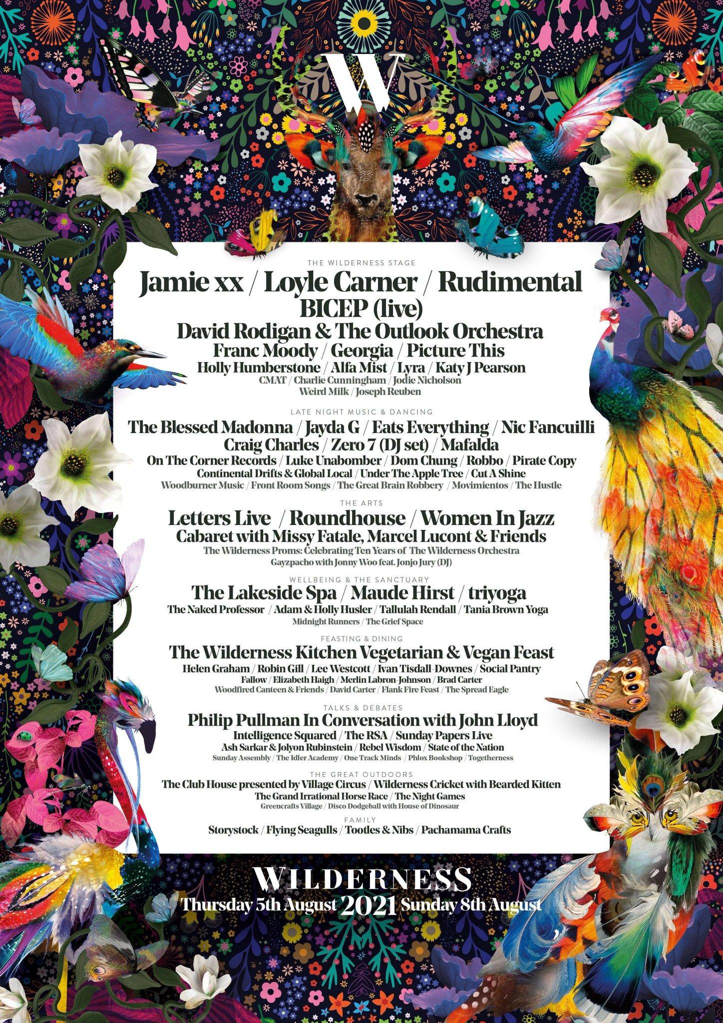 Wilderness festival lineup