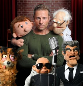 Paul Zerdin and his puppets